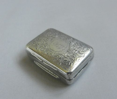antique silver vinaigrette