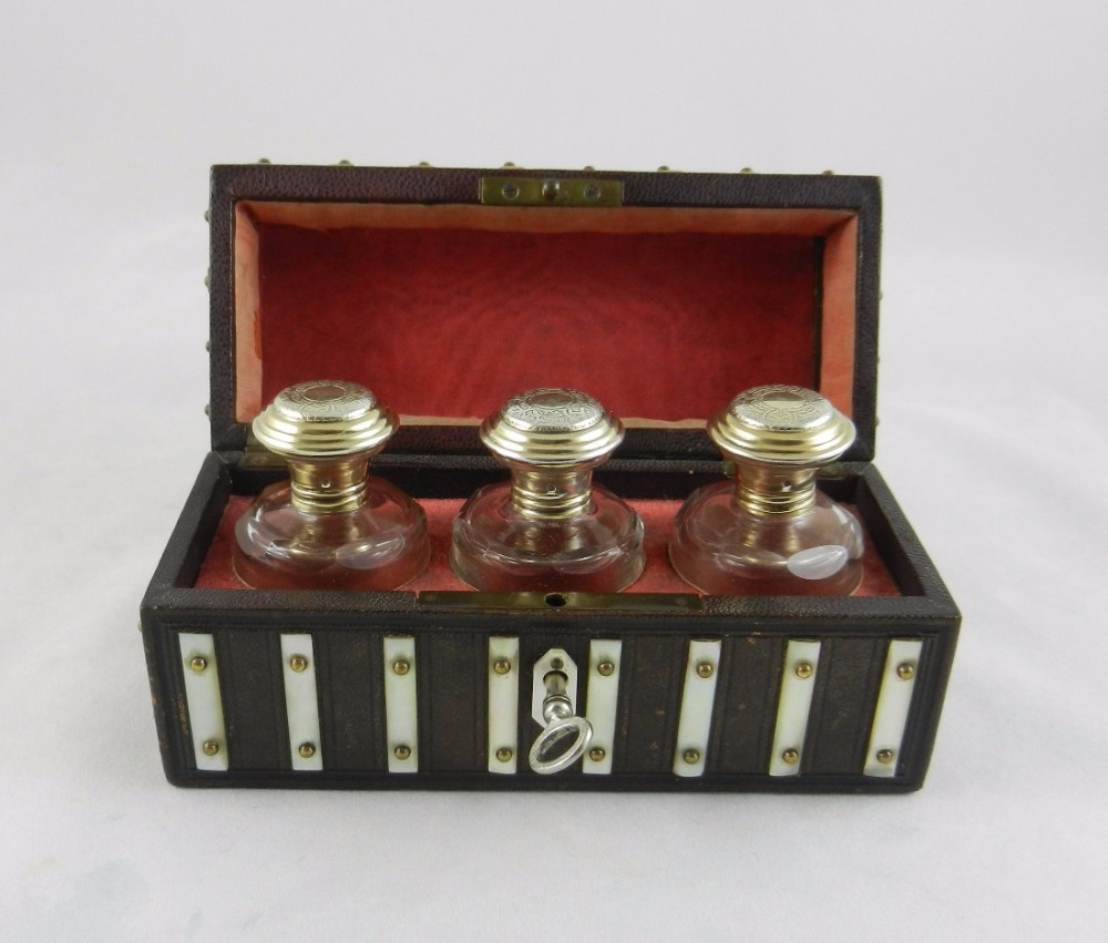 antique silvergilt glass scent bottles