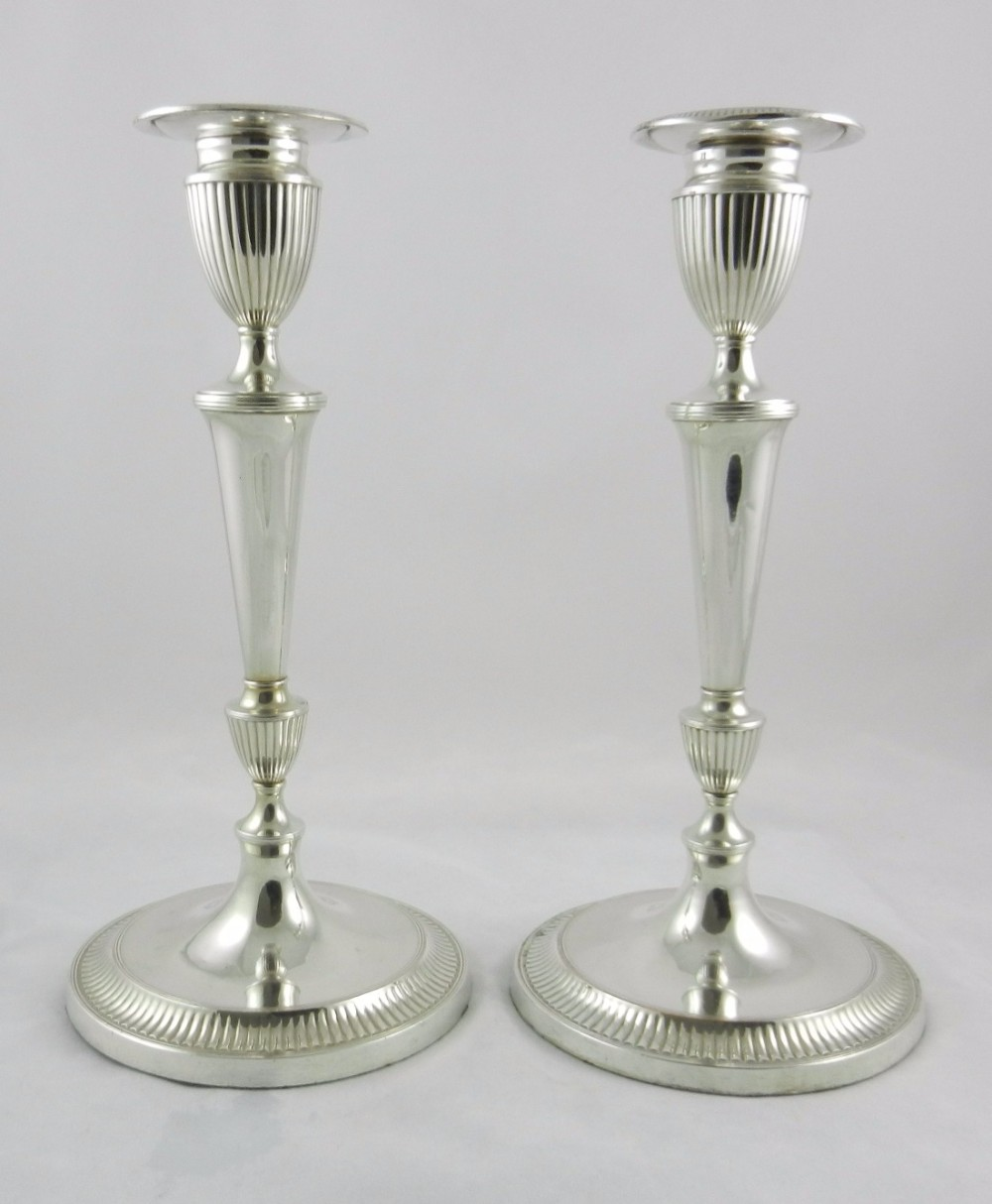 antique silverplated candlesticks