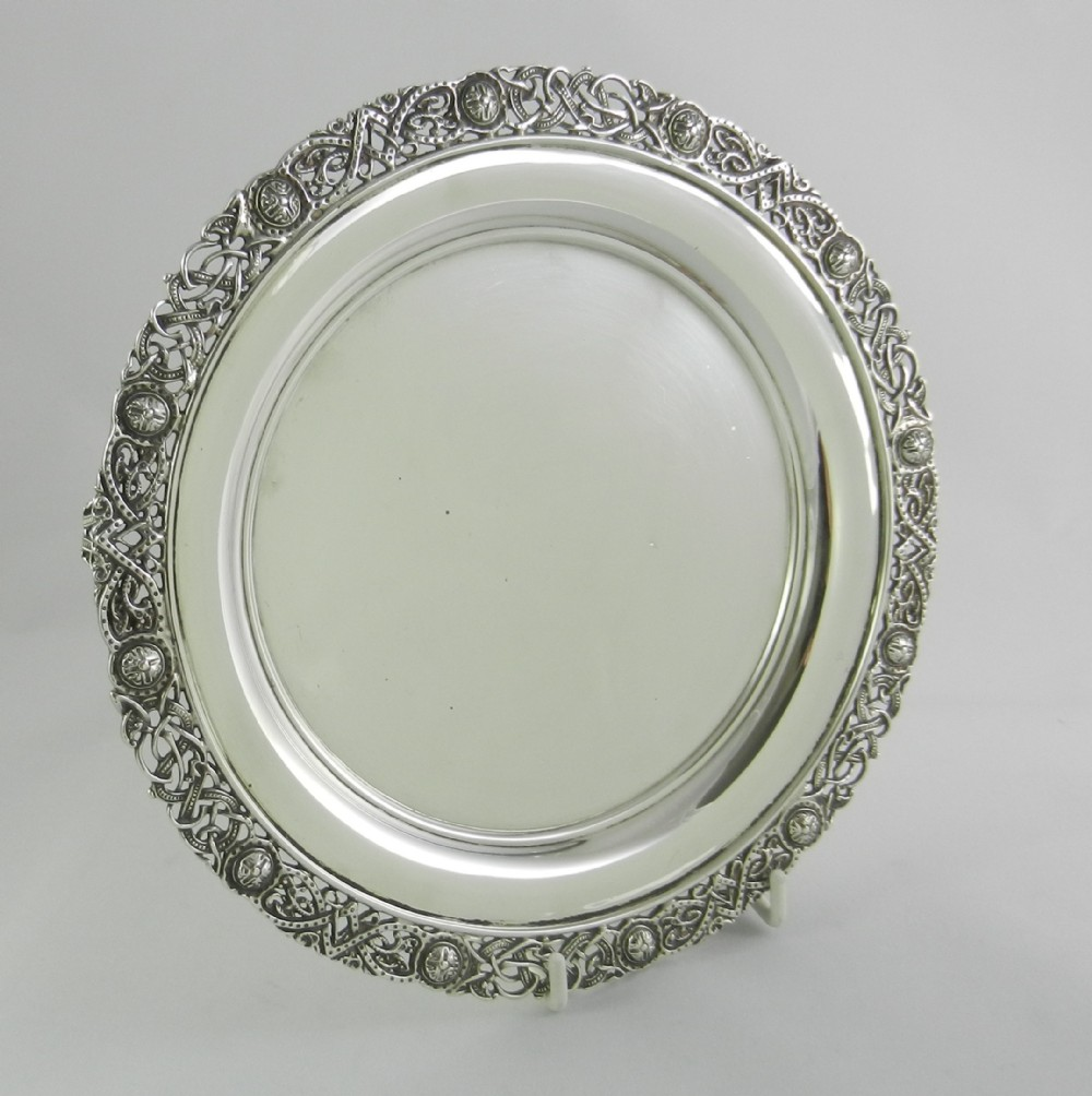 celtic pattern silver salver
