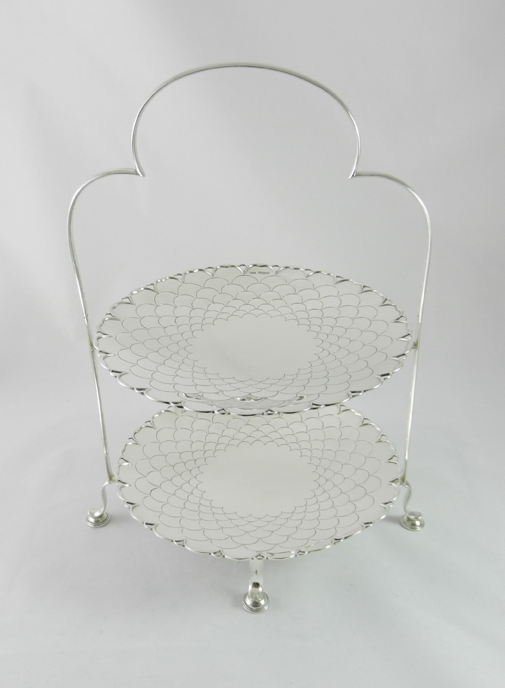 art deco silver cake stand