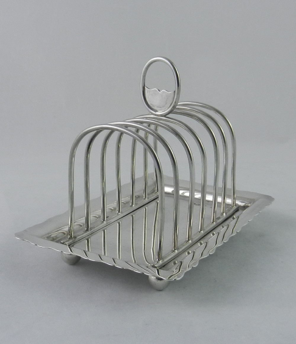antique silver toast rack