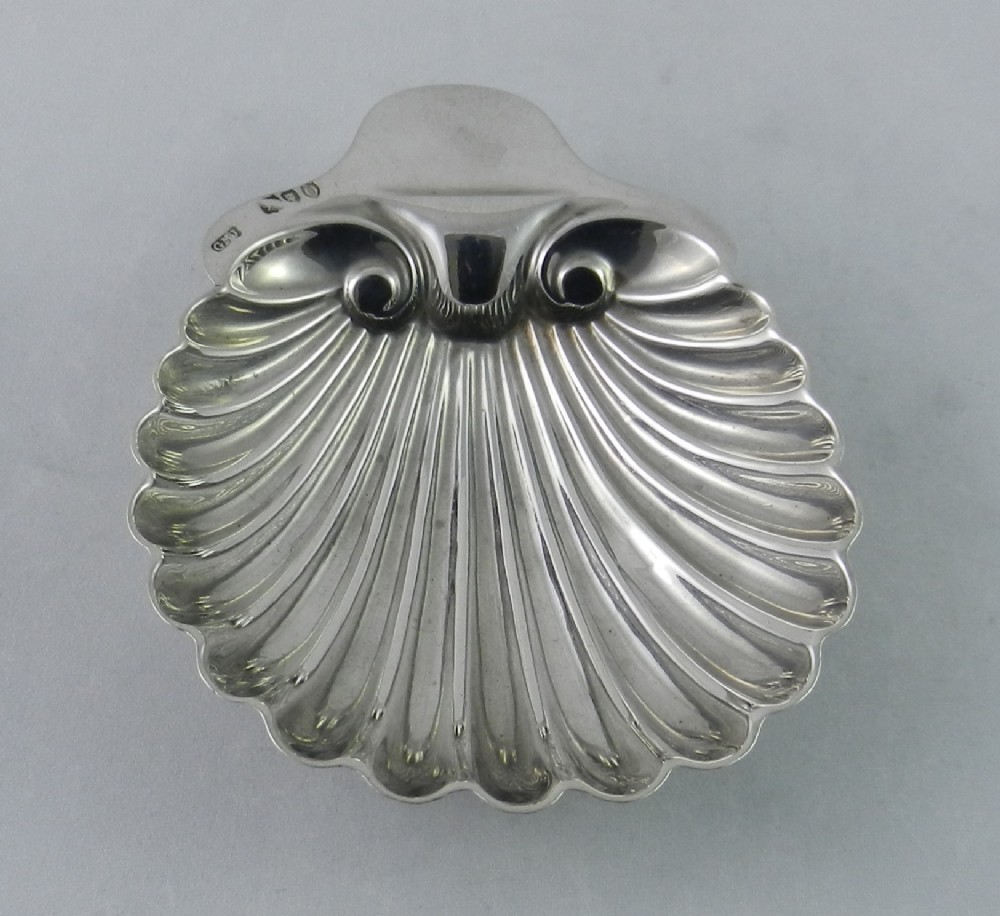 antique silver shell butter dish