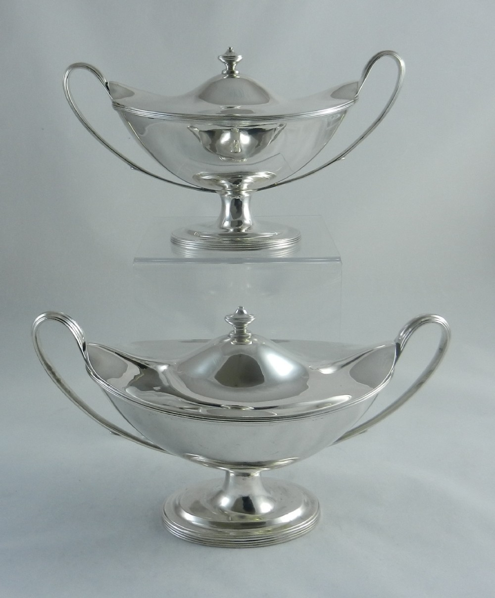 georgian silver sauce tureens