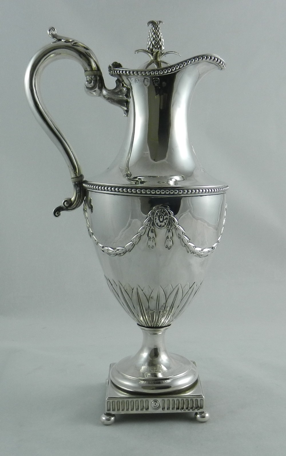 antique silver ewer