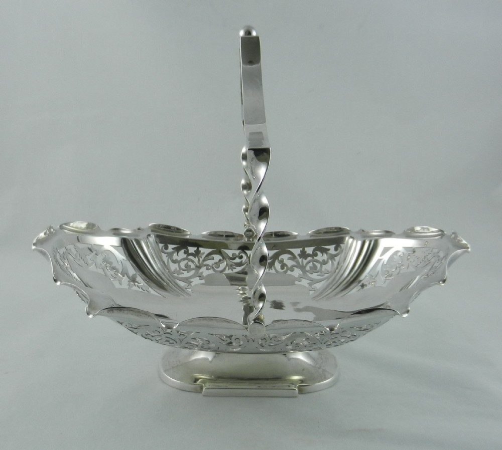 antique silver cakefruit basket